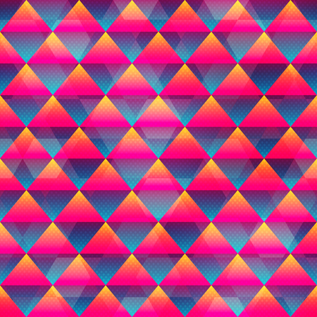 textile image: Red triangle seamless pattern (vector eps 10)
