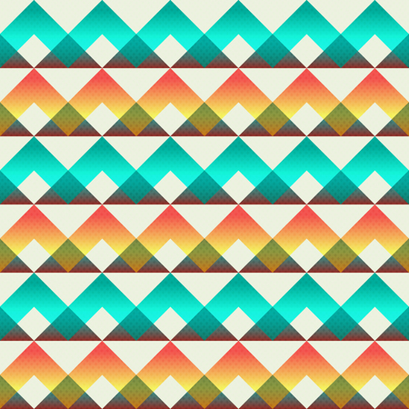 Vintage triangle seamless pattern (vector eps 10)