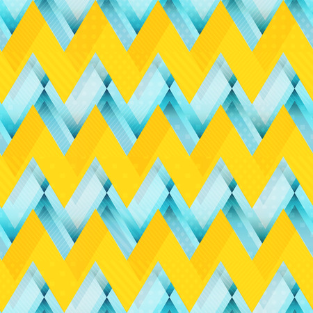 Yellow zigzag seamless pattern (eps 10 vector file)