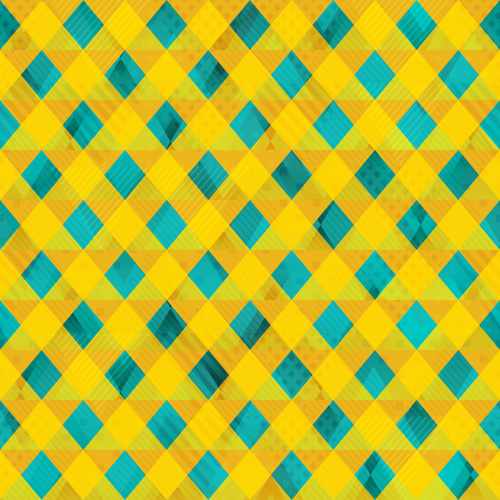 country kitchen: Yellow color cloth seamless pattern (eps 10 vector file)