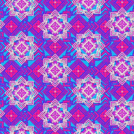 Bright mosaic seamless pattern (eps 10 vector file)