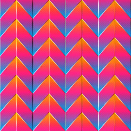 Bright zigzag pattern