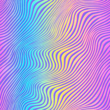 Pastel color curved lines. Seamless pattern