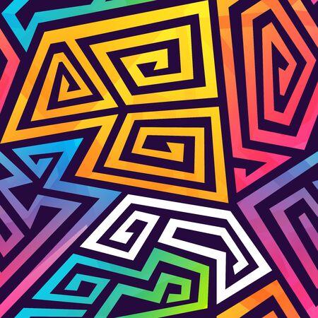 Graffiti geometric seamless pattern Illusztráció