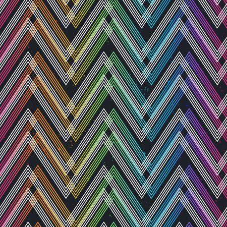 Colored zigzag seamless pattern. Ilustrace