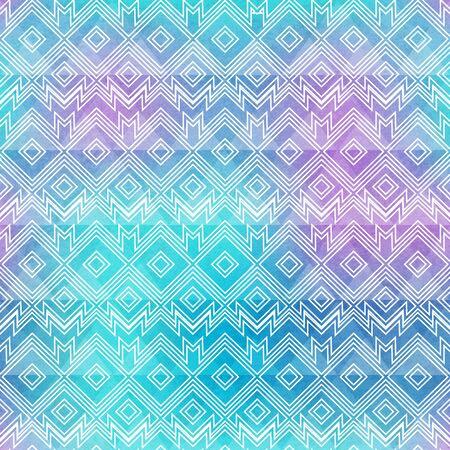 Watercolor vintage seamless pattern.