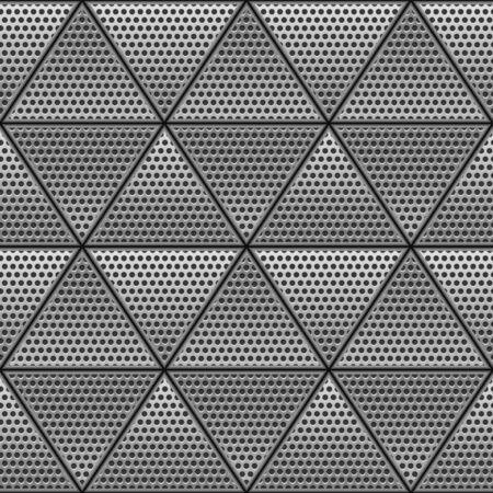 Metal triangle seamless pattern.