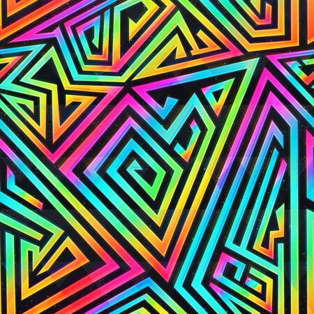 Colored maze seamless pattern.