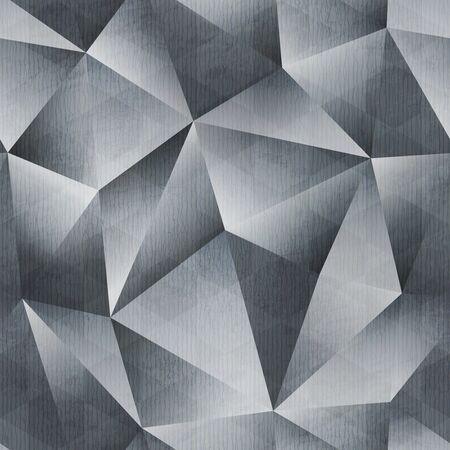Monochrome grunge triangle pattern