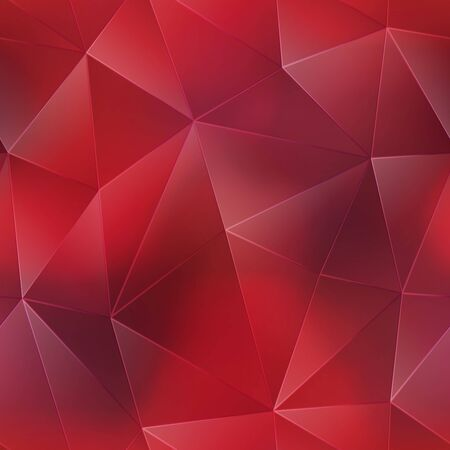 Ruby triangle seamless pattern. Stock Illustratie