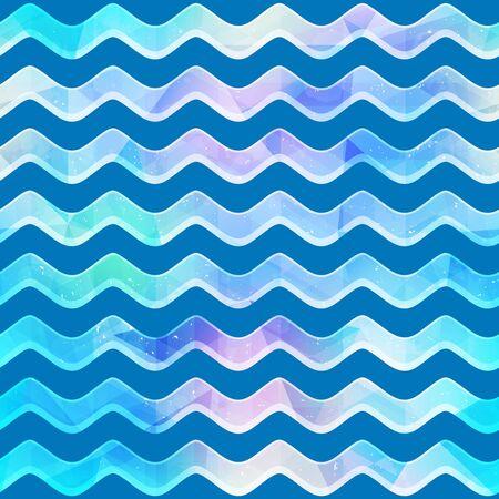 Wave seamless pattern. 向量圖像