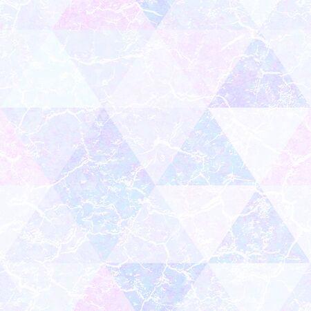 Pastel color triangle pattern with grunge effect. Векторная Иллюстрация