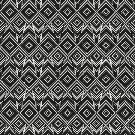 Vintage monochrome geometric pattern with grunge effect.