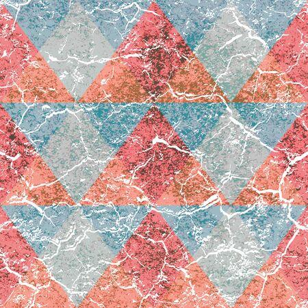 Grunge triangle pattern.