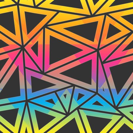 Colored triangle pattern.