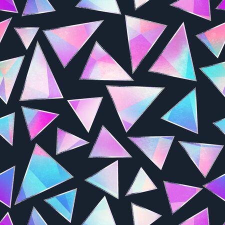 Modèle sans couture de triangle violet.
