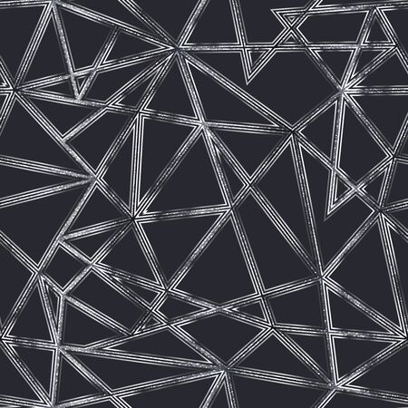 Monochrome triangle seamless pattern. 向量圖像