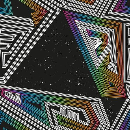 Space geometric seamless pattern