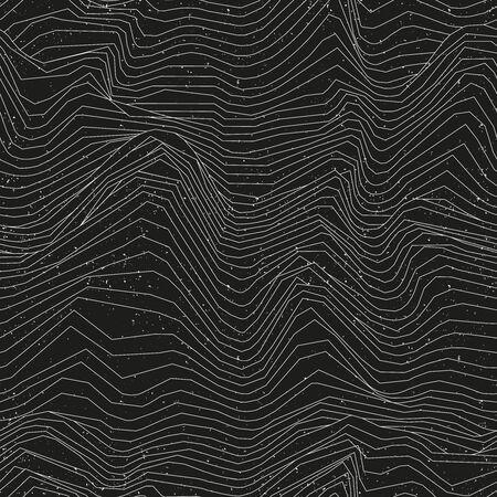 Líneas blancas sin costuras con efecto grunge Ilustración de vector