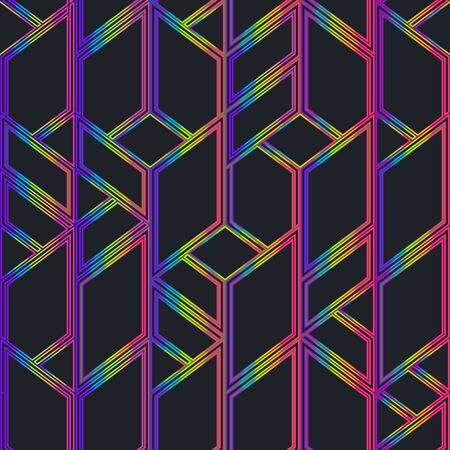 Neon color mosaic seamless pattern.