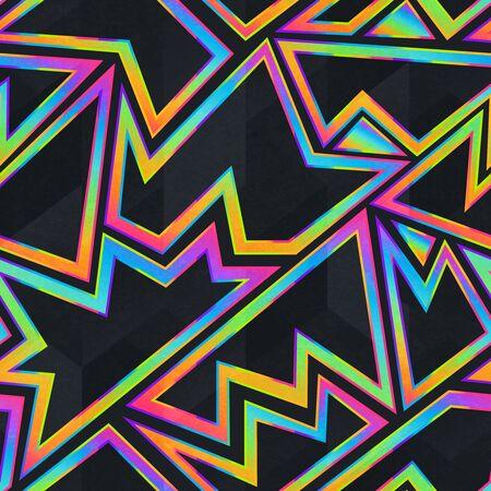 Helder neon geometrisch naadloos patroon