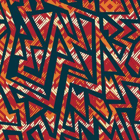 Tribal geometric seamless pattern