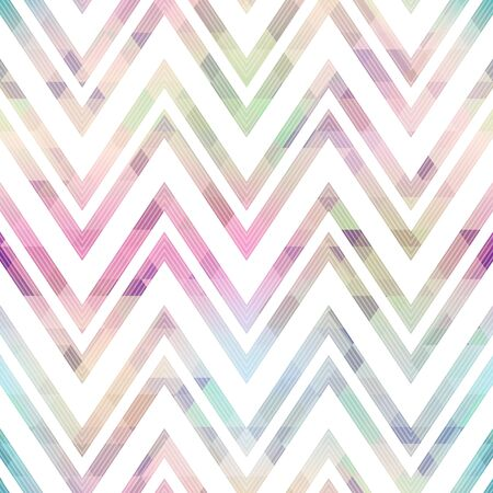 Pastel color zigzag seamless pattern.