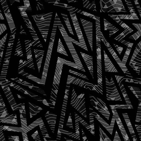Monochrome tribal geometric pattern