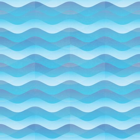 Marine wave seamless pattern.. Ilustração