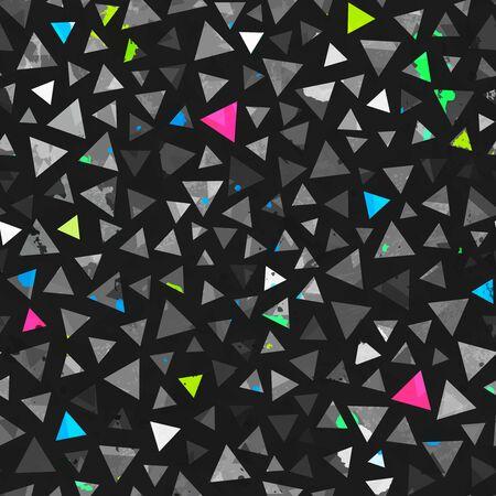 Grunge triangle seamless pattern..