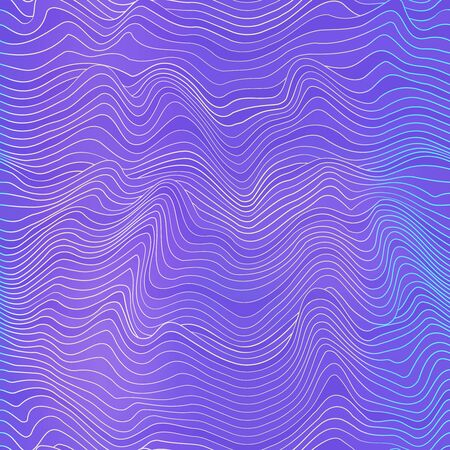 Violet curved seamless pattern.