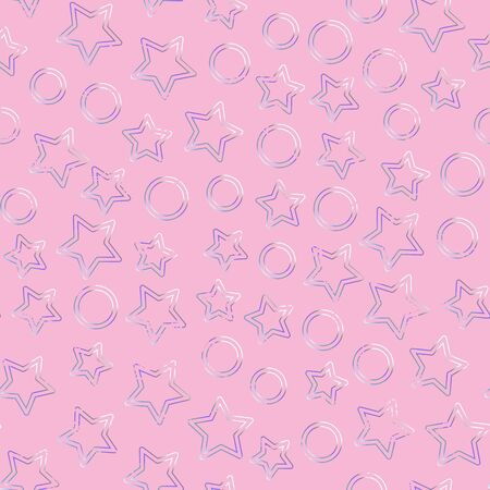 Pink color heart seamless pattern.