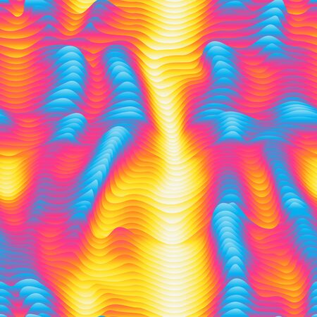 Infrared waves seamless pattern.