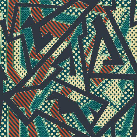 Retro cloth geometric seamless pattern.