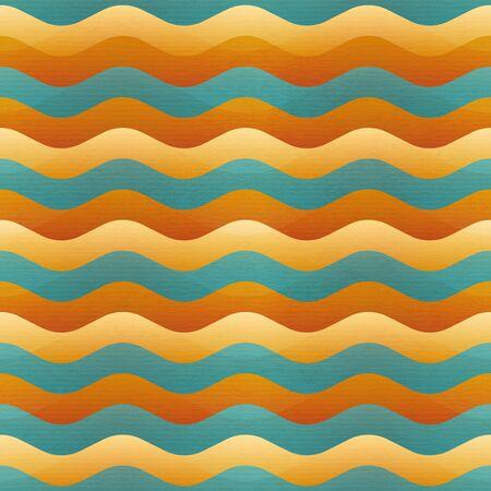 Sand wave geometric seamless pattern. Ilustração