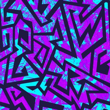 Grunge purple seamless pattern.. Ilustração