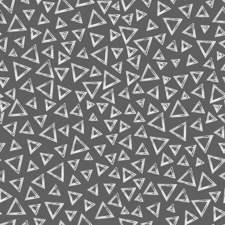 Monochrome triangle seamless pattern. Ilustração