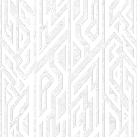 White ancient geometric seamless pattern with grunge effect. Ilustração