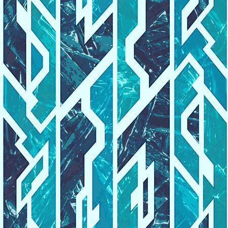 Ice geometric seamless pattern..
