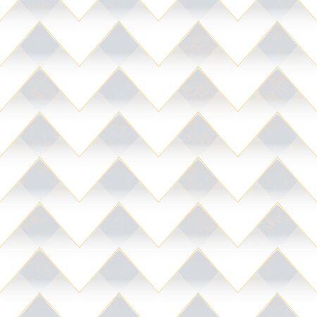 White zigzag seamless pattern. Ilustração