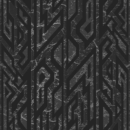 Black stone geometric pattern. Ilustração