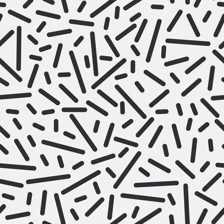 Monochrome strips geometric seamless pattern. Ilustração