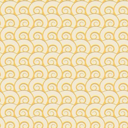 Sand seashells geometric seamless pattern.