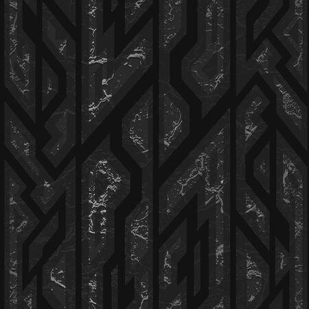 Black stone geometric texture.