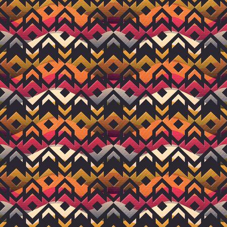 Ancient geometric seamless pattern Ilustração