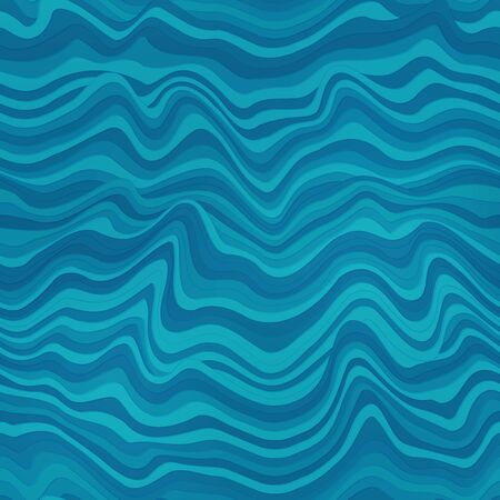 Water lines geometric seamless pattern. Imagens - 144677895