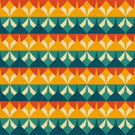 Retro geometric seamless pattern..