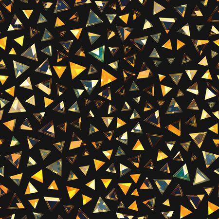 Gold triangle seamless pattern..