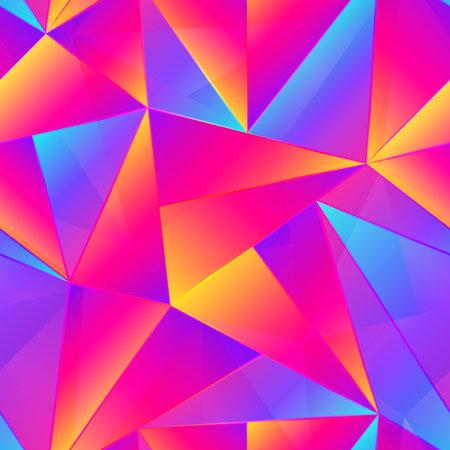 Vibrant triangle seamless pattern.