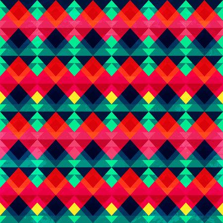 Vintage mosaic seamless pattern. Ilustração